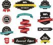 Vector Labels, Banners Ribbons and Stickers