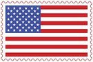 USA flag on stamp