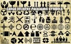 58 Cargo delivery packaging symbols
