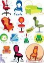 Stock Ilustrations Furniture Logo