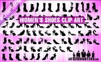 87 Women's Shoes Clipart