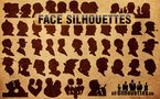40 Vector Face Silhouettes
