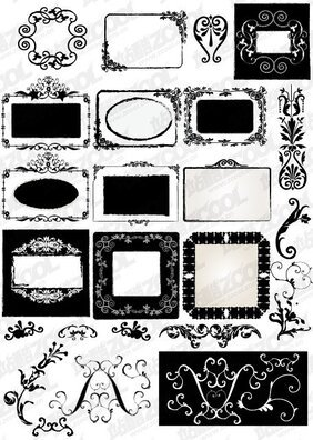 A variety of frame material lace
