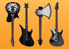 Guitarras elétricas Vector Freebies