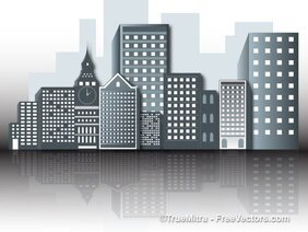Office Buildings Vectors