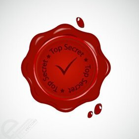 Vector Red wax seal