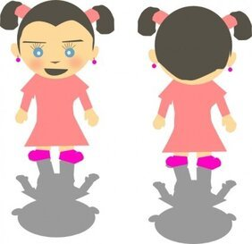 Little Kid Girl Cartoon