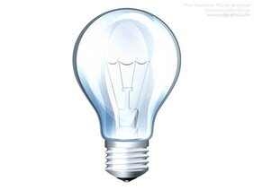 PSD light bulb icon