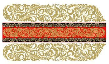 European Tile background of classical pattern vector materia