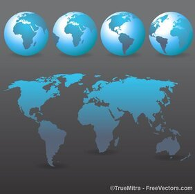 World Map on Earth