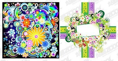 2, the trend of colorful flowers