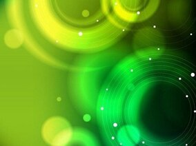 Abstract Green Bokeh