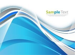 Blue Smooth Wave Abstract Background