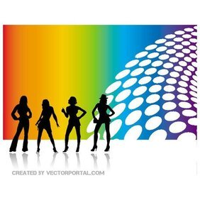 WOMEN SILHOUETTES ABSTRACT VECTOR.eps