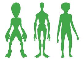 Alien Silhouettes Set