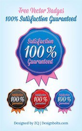 Arrondi modèle de Badge Satisfaction garantie