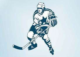 Vector Hockey Player