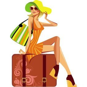 GIRL WITH SUITCASE VECTOR.eps