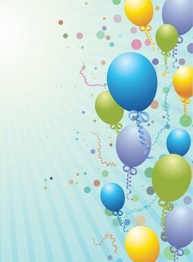 Balloons Design Background