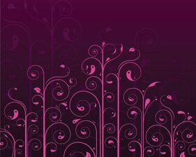 Swirls & Flowers Background