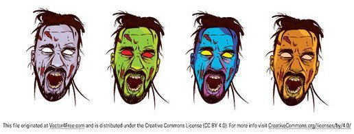 Zombie Face Color