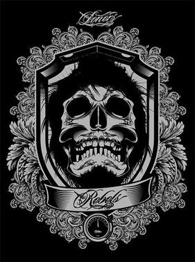 Cool and European skull vector gorgeous lace material