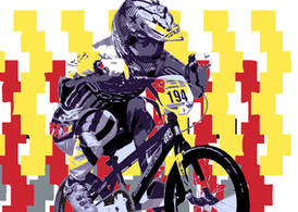 USA BMX Biker Vector - The Flea