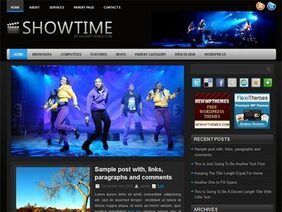 ShowTime free WordPress template