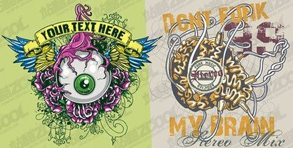 The eye and brain theme t-shirt design