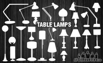 25 lampes de table vector