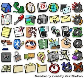 Cartoon Blackberry Icons
