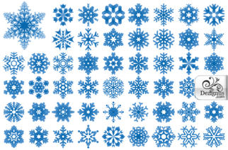 Free Vector Snowflakes Illustrator and Photoshop Shapes