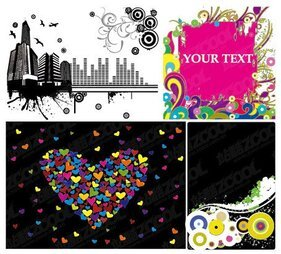 Heart-shaped vector material and other elements of urban tre
