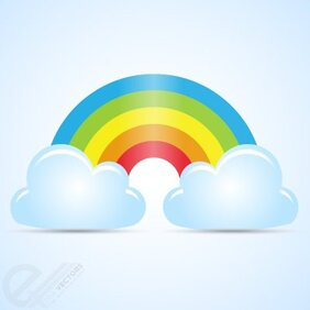 Rainbow abstract with Clouds