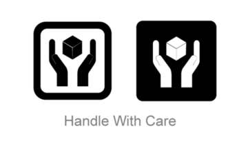 Handle with Care Symbol Vector Art Free