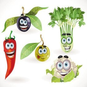 Vegetable cartoon image 05