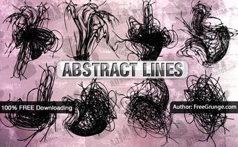 8 abstract Vector lijnen