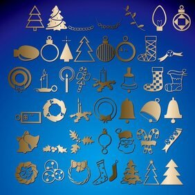 Christmas theme icons compilation