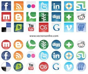 Social Websites Icon Set (21-Icons)
