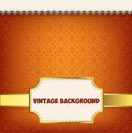 Vintage Label Floral Pattern Background