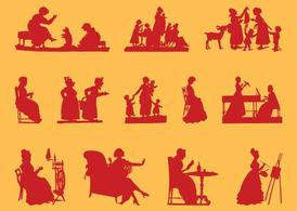Antique Women Silhouettes