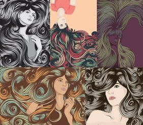 The complexity of women's hair cool