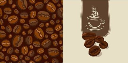 Vector Material Coffee Beans