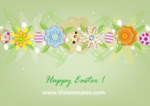 Easter Eggs Vector Card
