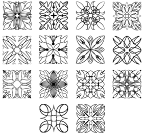 Ornamentos quadrados Free Vector Pack