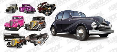 A variety of classic cars