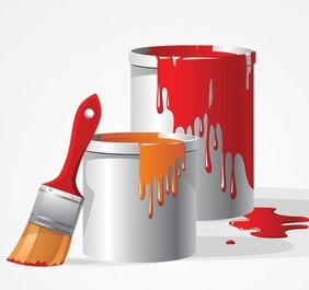 Paint Bucket & Brush Vector Clip Art (Free)