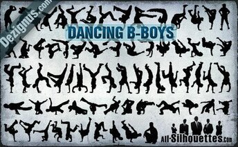 69 vector danses B-boys