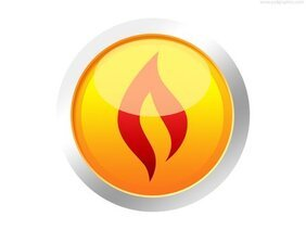Yellow fire button (PSD)