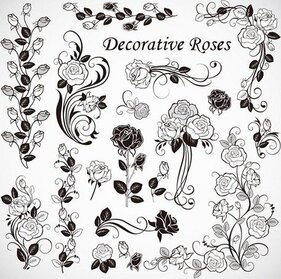 Gratis Vector Roses decoratie
